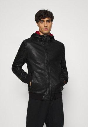 GRAYDON - Kožená bunda - black
