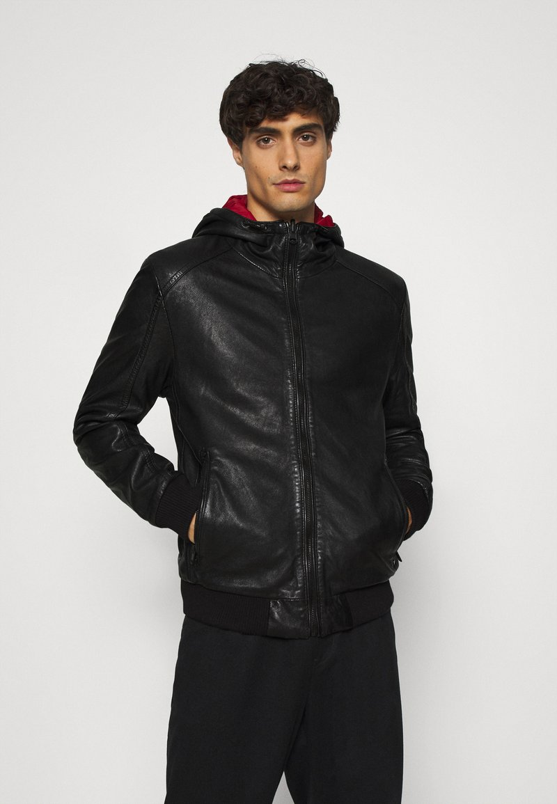 Gipsy - GRAYDON - Leather jacket - black