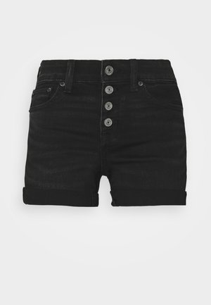 MIDI - Denim shorts - black