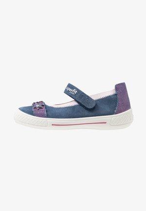 TENSY - Ankle strap ballet pumps - blau