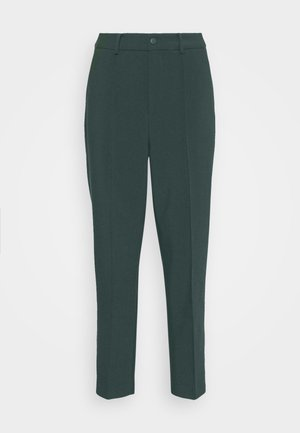 BASIC BUSSINESS PANTS WITH PINTUCKS  - Kalhoty - dark green