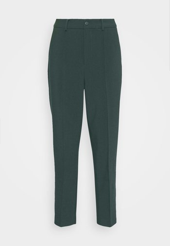 BASIC BUSSINESS PANTS WITH PINTUCKS  - Trousers - dark green