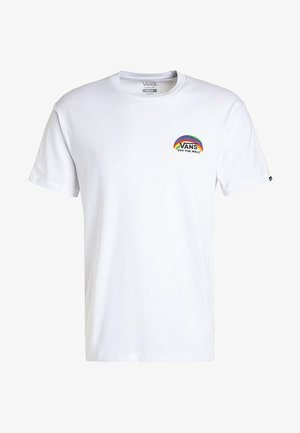 RAINBOW  - T-shirt z nadrukiem - white