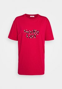 T-shirt con stampa - crimson red