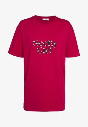 Print T-shirt - crimson red