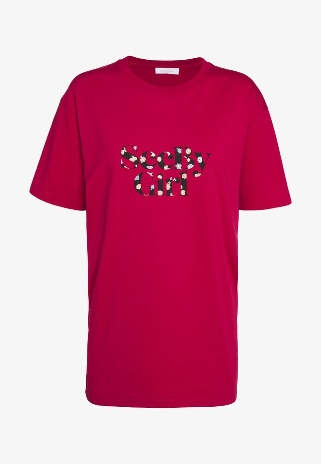 Camiseta estampada - crimson red