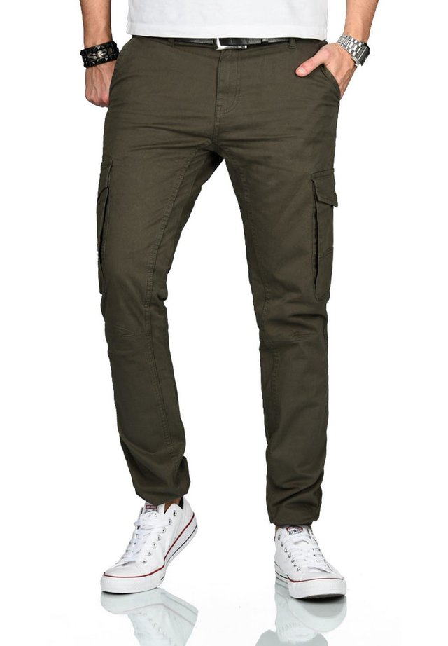 DESIGNER  - Cargo trousers - olivgrün
