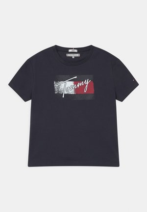 FLAG - Print T-shirt - twilight navy