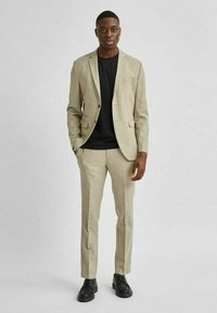 Selected Homme - LEICHT - Kostymbyxor - sand - 1