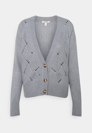 STRUCTURE OPTIC CARDIGAN - Cardigan - light blue lavender