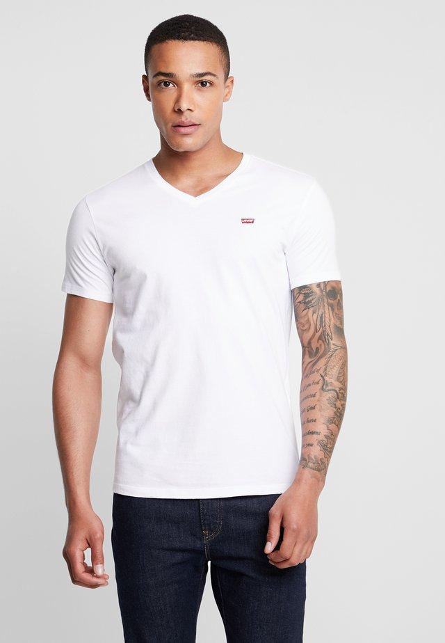 VNECK - T-shirt z nadrukiem - white