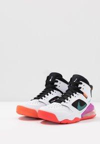 Jordan - MARS - Basketbalové boty - white/hyper violet/black/total orange/aurora green/bright crimson - 3