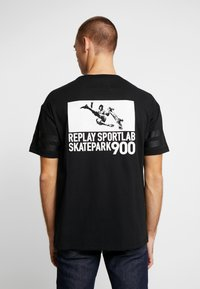 Replay Sportlab - T-shirt con stampa - black - 2