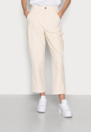 CURVY STRAIGHT PANT - Trousers - cream cord