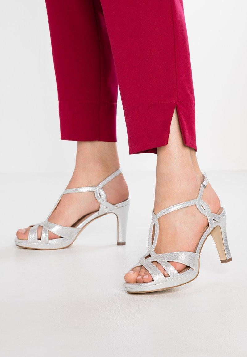 Menbur - Sandaler med høye hæler - silver