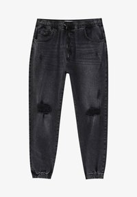 PULL&BEAR - Jeans Tapered Fit - black - 6