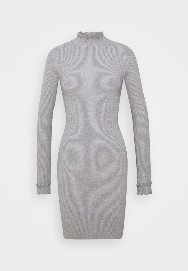 ASHLEE - Shift dress - grey marl