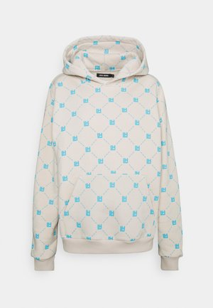MONOGRAM HOODIE - Sweater - blue/beige