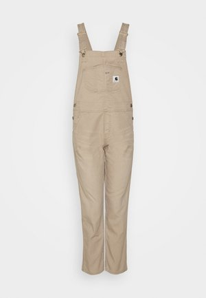 BIB OVERALL - Dungarees - dusty brown