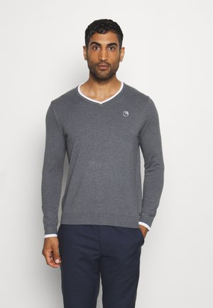 MEMBERS V NECK - Pullover - iron gate heather