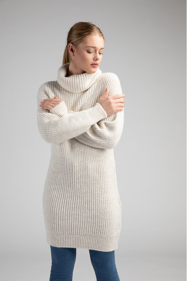 Robe pull - offwhite