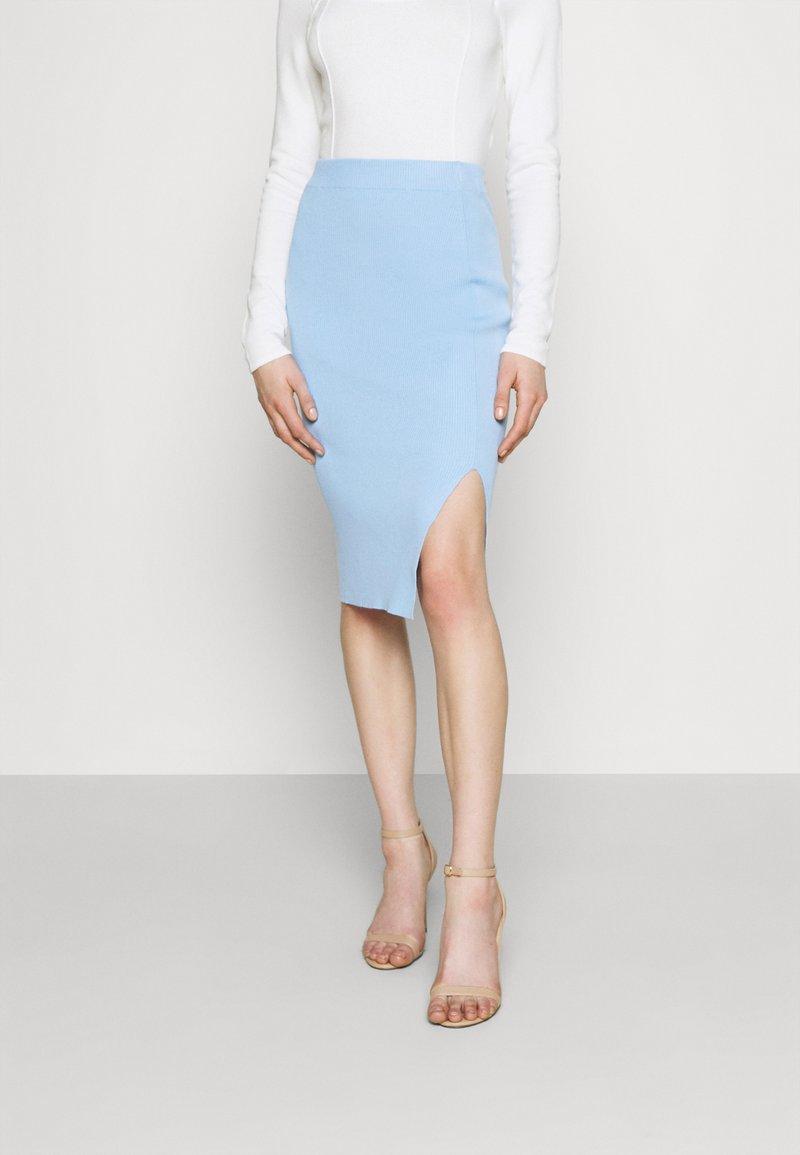 4th & Reckless - REBEKAH SKIRT - Pencil skirt - blue
