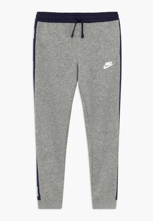 HYBRID PANT - Spodnie treningowe - grey heather/midnight navy/white