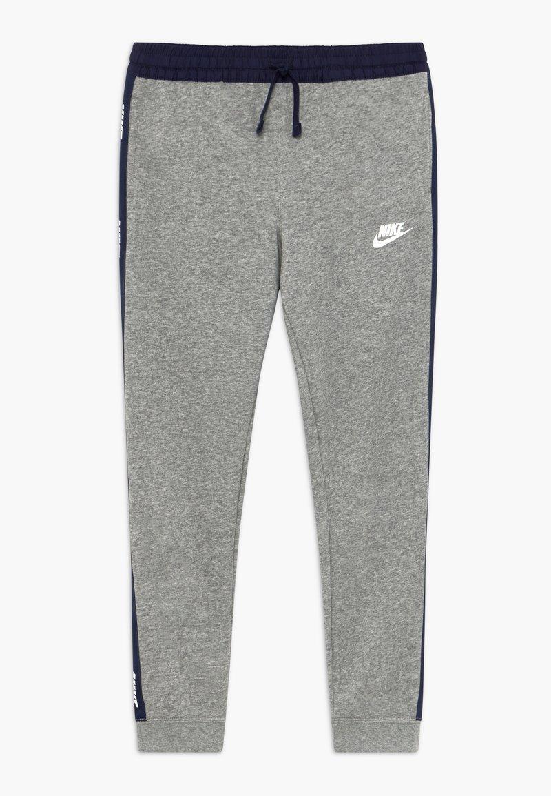 Nike Sportswear - HYBRID PANT - Pantalones deportivos - grey heather/midnight navy/white