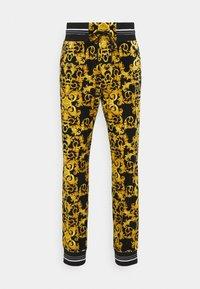 Versace Jeans Couture - TECNO  PRINT LOGO BAROQU  - Tracksuit bottoms - black - 7