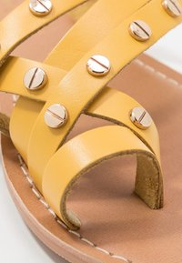 Dorothy Perkins - JANGO STUD TRIM SLIDE - T-bar sandals - yellow - 2