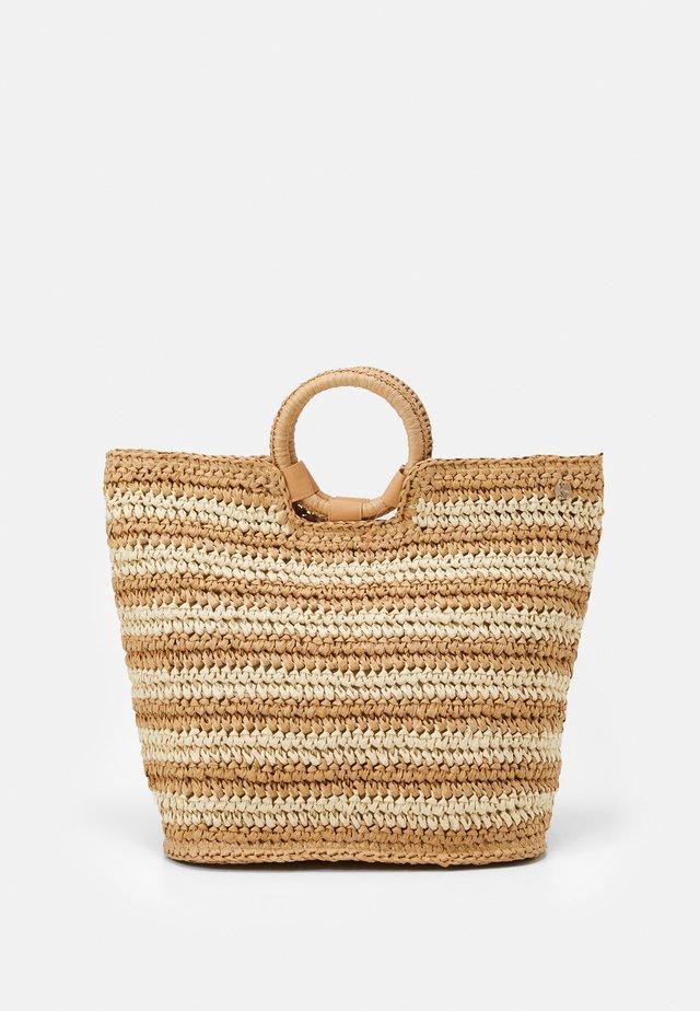 CARRIED AWAY STRIPE BEACH BAG - Velká kabelka - natural