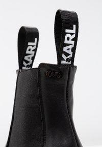 KARL LAGERFELD - VOYAGE GORE - Ankelboots med høye hæler - black - 2