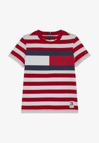 Tommy Hilfiger - CUT SEW STRIPE TEE - Print T-shirt - red - 2