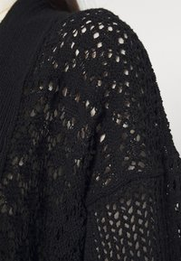 New Look - STITCHY KIMONO - Strikjakke /Cardigans - black - 4
