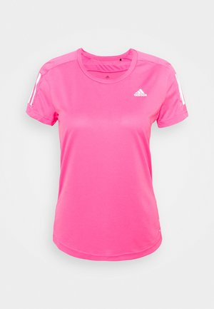 OWN THE RUN TEE - T-shirt con stampa - scream pink