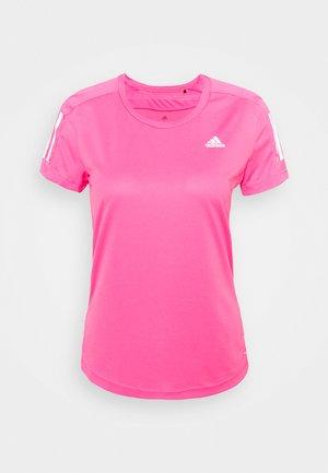 OWN THE RUN TEE - T-shirt z nadrukiem - scream pink