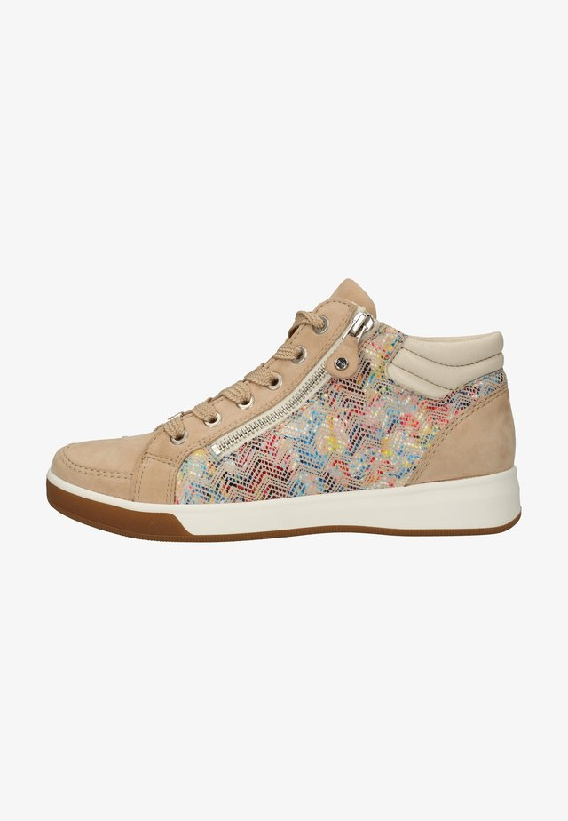 Sneakers laag - camel,cloud/multi