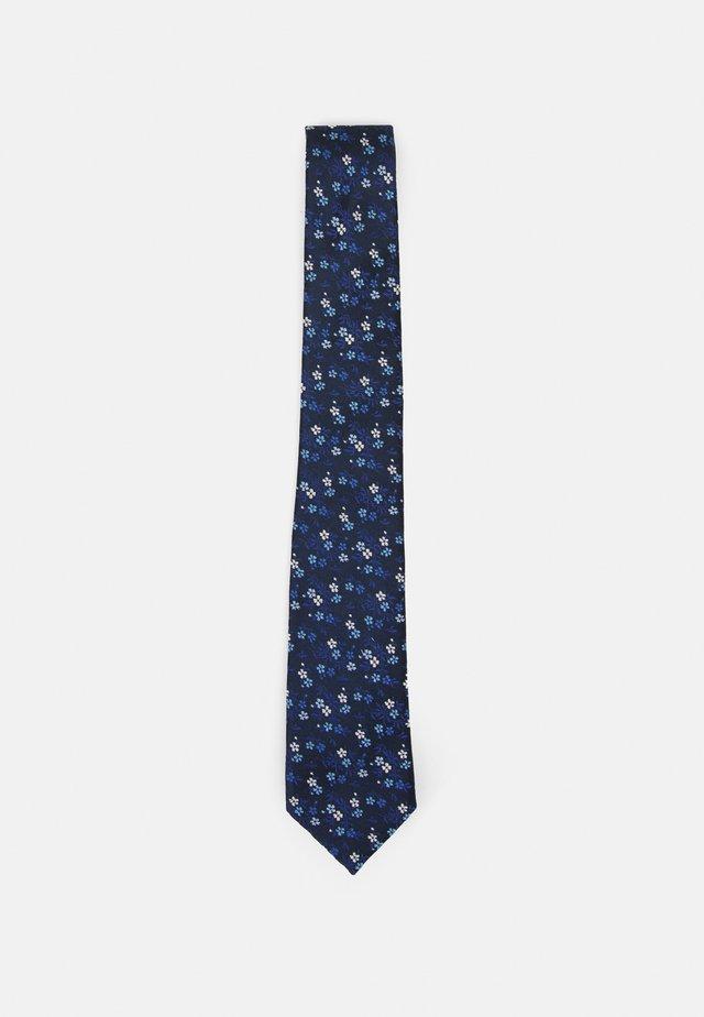 TIE FLORAL - Cravatta - dark blue