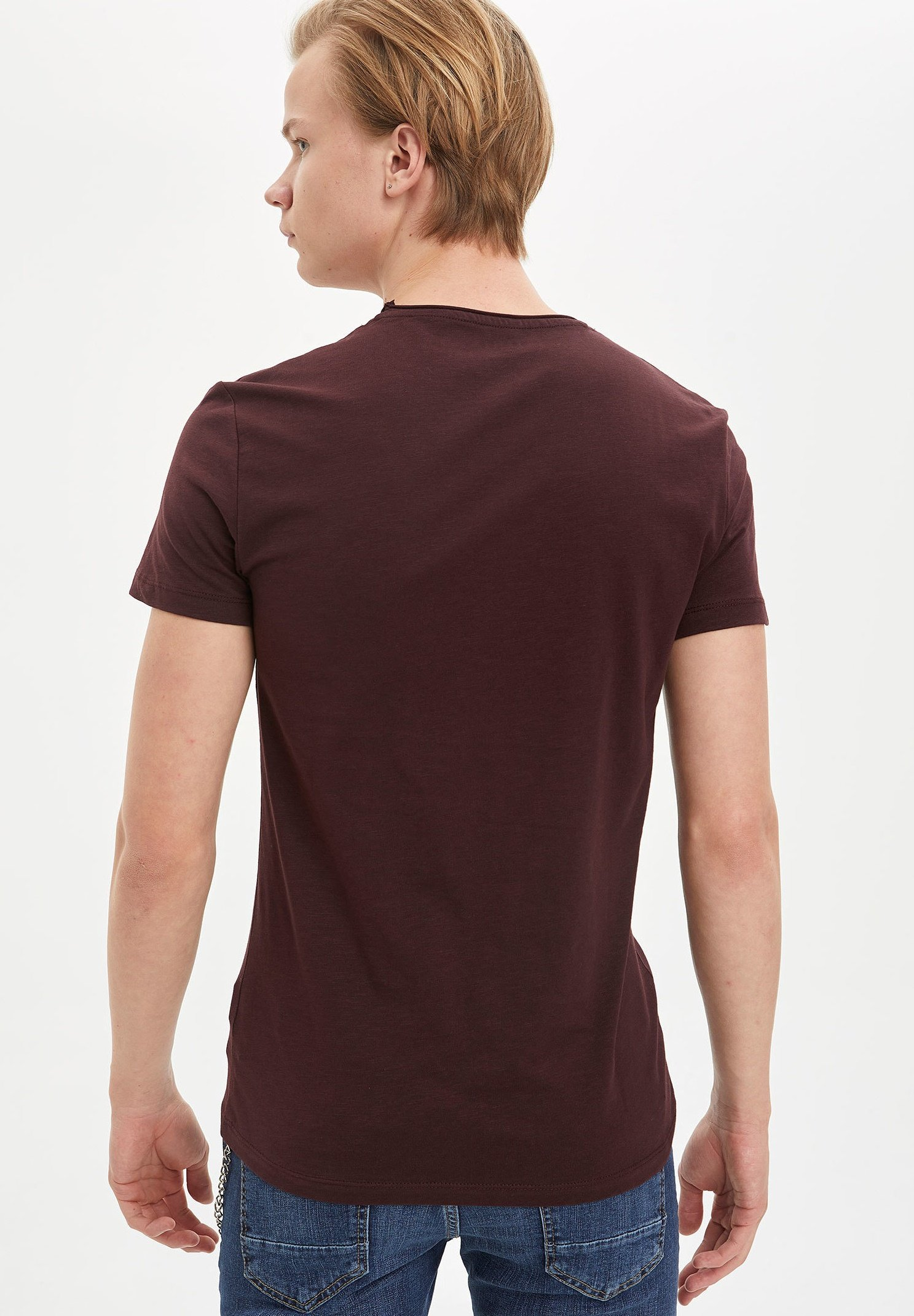 DeFacto Basic T-shirt - bordeaux qoEel