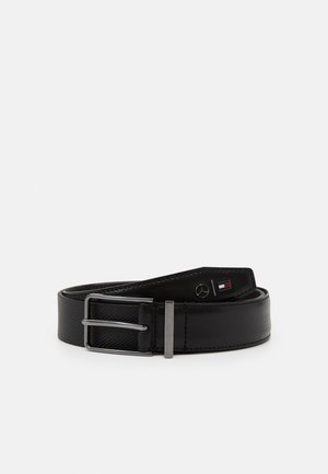 TEXTURED BELT - Pasek - jet black
