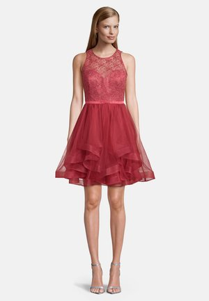 MIT PAILLETTEN - Cocktail dress / Party dress - sweet raspberry