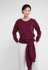 Sonia Rykiel - Long sleeved top - nuit/carmin - 0