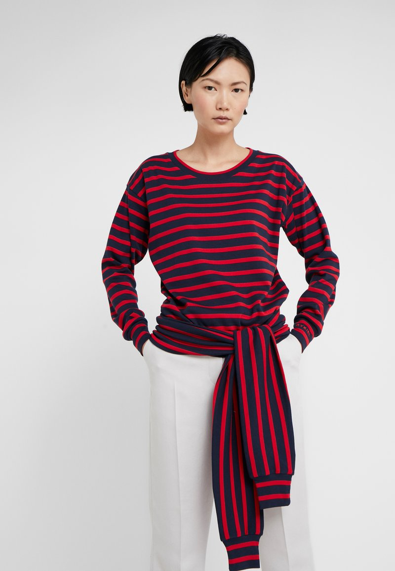 Sonia Rykiel - Long sleeved top - nuit/carmin