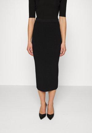 STRAIGHT - Pencil skirt - black