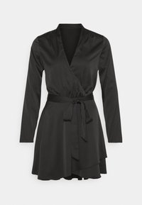 Nly by Nelly - BELTED WRAP DRESS - Cocktail dress / Party dress - black - 5