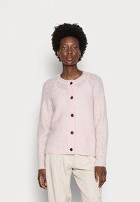 Selected Femme - SLFLULU SHORT CARDIGAN  - Neuletakki - chalk pink - 0