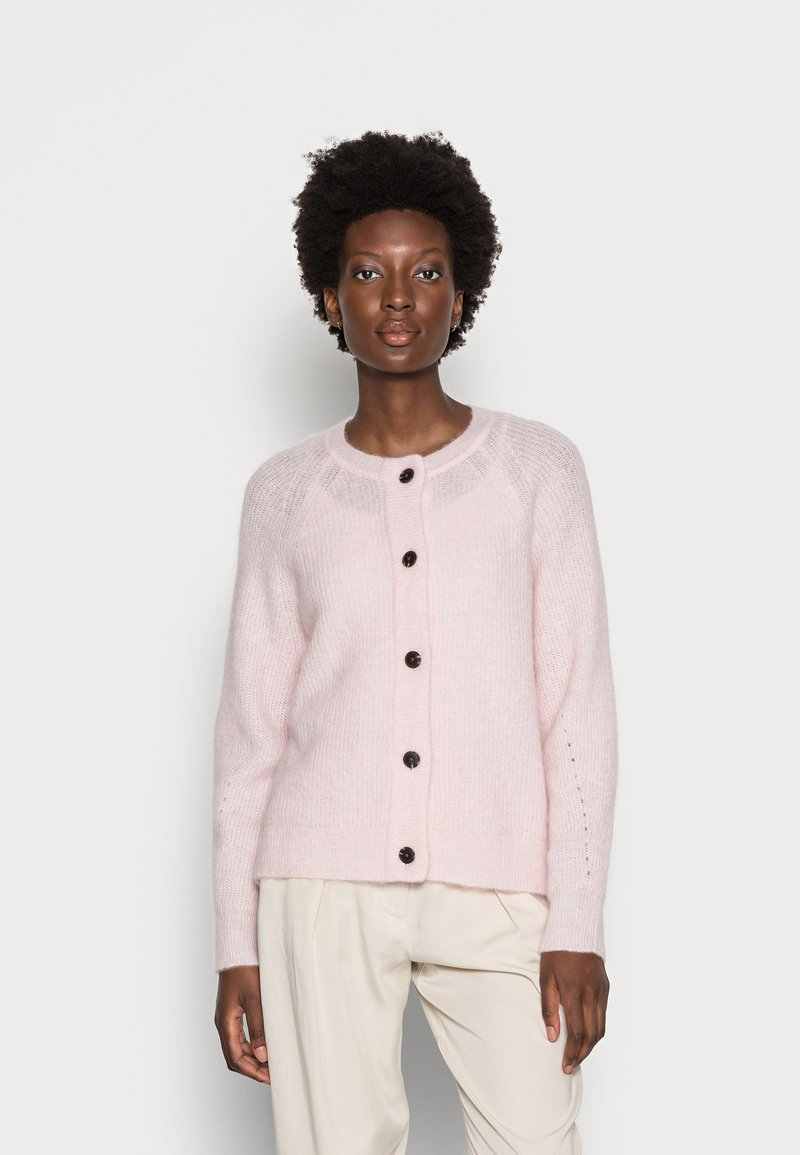Selected Femme - SLFLULU SHORT CARDIGAN  - Neuletakki - chalk pink