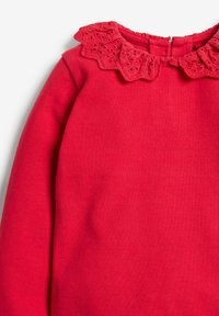 Next - BRUSHED BRODERIE COLLAR  - Long sleeved top - red - 2