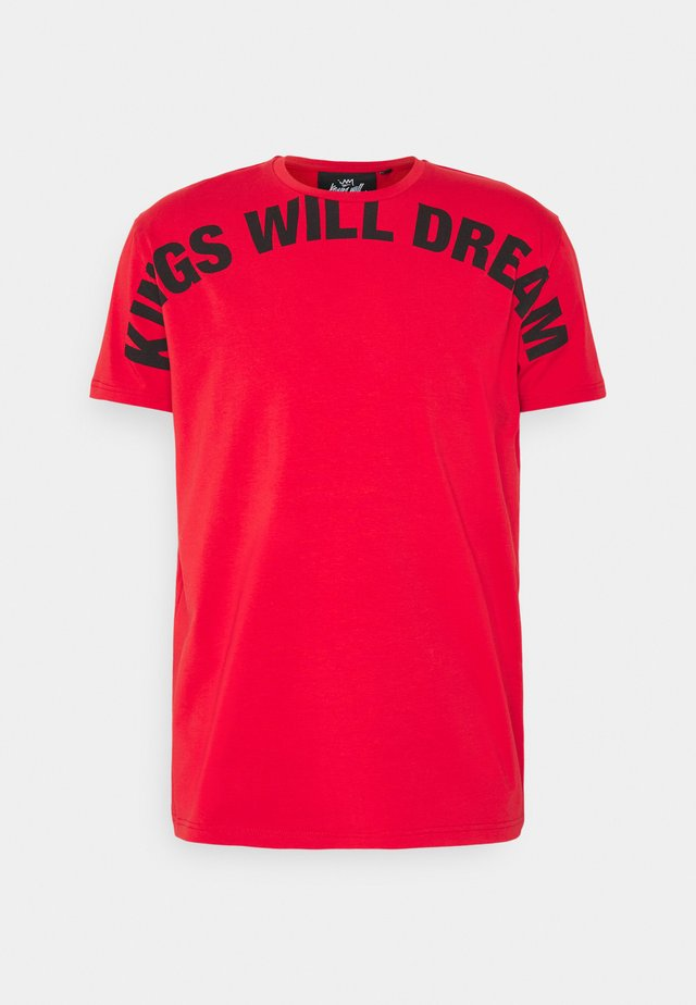 BESECK TEE - T-shirt imprimé - red