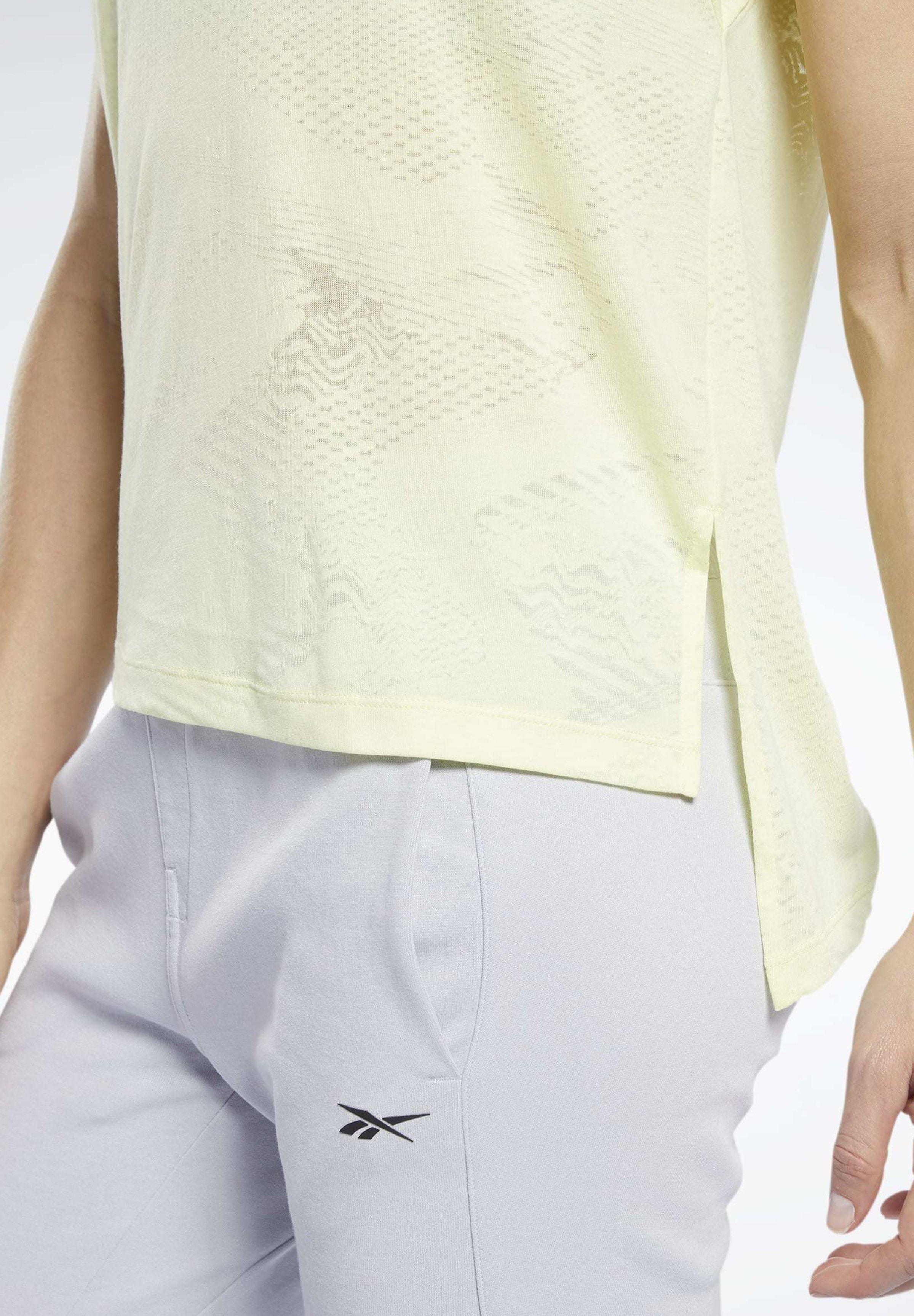 Reebok BURNOUT TEE - Basic T-shirt - yellow uDlgP